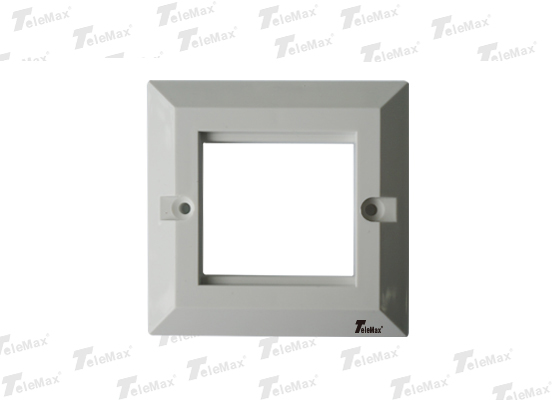 2 Port UK Type Faceplate Bevelled 86x86mm