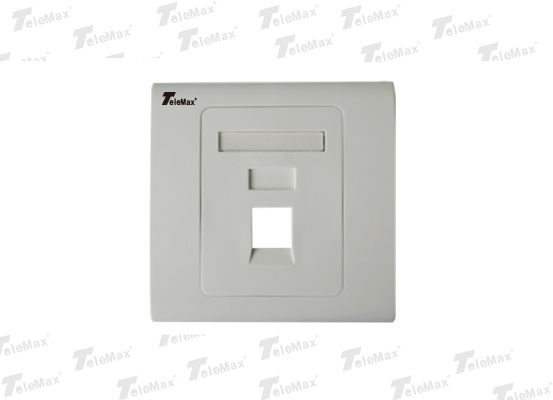 1 Port 86 Type Faceplate 86*86mm