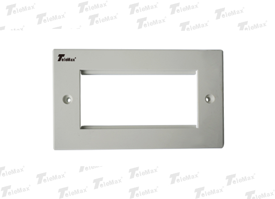 4 Port UK Type Faceplate Flat 86x146mm