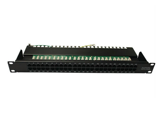 Cat.3 1U 50 Port UTP Telephone Voice Panel