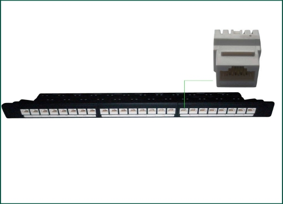 Full Loaded Cat.6a UTP Keystone Jack Patch Panel